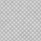 stock photo of interlock  - Gray and White Interlocking Circles Tiles Pattern Repeat Background that is seamless - JPG