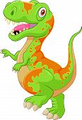 pic of tyrannosaurus  - illustration of Cartoon tyrannosaurus isolated on white - JPG