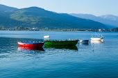 Постер, плакат: Boats on Lake Ohrid