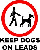foto of dog poop  - Vector Illustration of  the Keep Dogs on a Lead Symbol - JPG