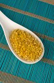 foto of citronella  - Dehydrated lemon grass on a traditional bamboo mat - JPG