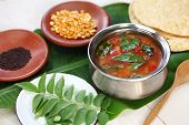 picture of banana split  - tomato rasam - JPG