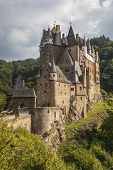 stock photo of moselle  - Picturesque medieval hill castle  - JPG
