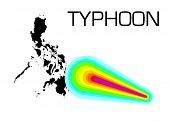 picture of typhoon  - Strong typhoon goes on the Philippines - JPG