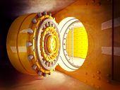 picture of vault  - 3d image of classic vault door - JPG