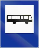 stock photo of motor-bus  - A Polish traffic sign  - JPG