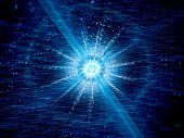 picture of neutrons  - Blue glowing neutron star in space computer generated abstract background - JPG