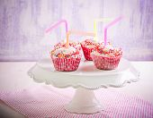 stock photo of sprinkling  - Lemonade cupcakes - JPG