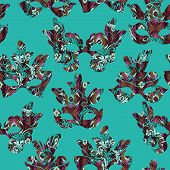 stock photo of carnival rio  - Seamless pattern with carnival mask - JPG