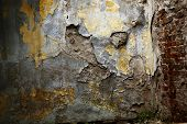 picture of concrete pouring  - photographed in daylight poured paint old wall texture background image - JPG