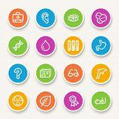 foto of chemotherapy  - Medicine web icons set - JPG