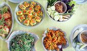 pic of thai cuisine  - Top view of Thai cuisine dishes famous international tasty food - JPG
