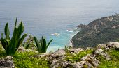 pic of gey  - Landscape of Turkish coast of mediterranean sea - JPG
