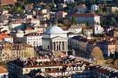 stock photo of turin  - Panorama from the Mole Antonelliana and church of the Gran Madre di Dio in Turin  - JPG