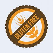 stock photo of wheat-free  - gluten free design - JPG