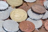 picture of copper coins  - New Zealand kiwi dollar currency coins money - JPG