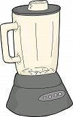 stock photo of blender  - Hand drawn empty stainless steel blender over white - JPG