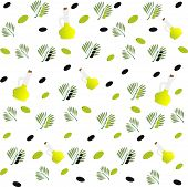 pic of olive branch  - Vector illustration seamless pattern - JPG