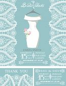 picture of snow border  - Bridal shower invitation set - JPG