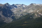 picture of colorado high country  - looking west from trail ridge road in the rocky mountain national park colorado - JPG