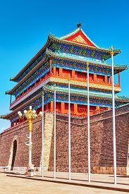 pic of gate  - Beautiful Zhengyangmen Gate  - JPG