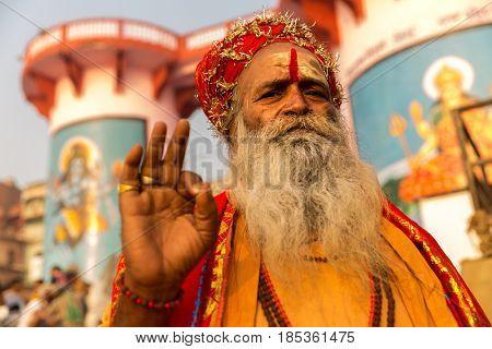 Sadhu in Varanasi India
