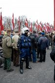 RIGS, LATVIA - MARCH 16: Commemoration of the Latvian Waffen SS unit or Legionnaires took place on M