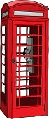 British red phone booth in London