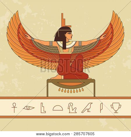 The Egyptian Goddess Isis And