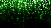 Beautiful Glitter Light Background. Background With Green Falling Particles Template For Premium Des poster