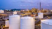 Storage Tank With Oil Refinery Plant And Petrochemical Plant. poster