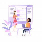 Website Ui Developer Design Social Media Project. Web Development Team Create Product Interface Wire poster