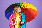 Waterproof Accessories For Children. Waterproof Accessories Make Rainy Day Cheerful And Pleasant. Ki poster