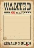 Wanted Poster.vector Western Illustration On White poster