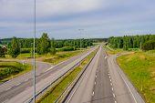 Imatra - Lappeenranta Expressway, Finland. Road, Summer View poster