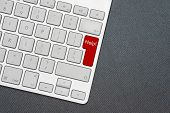 Keyboard With Word Help. Computer Notebook Keyboard With Help Key. Help Me Concept With Key On Keybo poster
