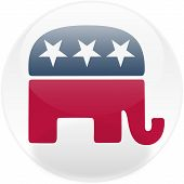 Republican Square Button