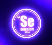 Selenium Chemical Element. Sign With Atomic Number And Atomic Weight. Chemical Element Of Periodic T poster