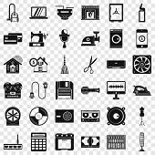 Homework Appliance Icons Set. Simple Style Of 36 Homework Appliance Vector Icons For Web For Any Des poster