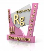 stock photo of rg  - Roentgenium form Periodic Table of Elements  - JPG