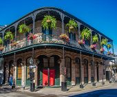 French Quarter Architecture In New Orleans, Louisiana. House In French Quarter In 18th Century Spani poster
