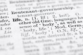 stock photo of pronunciation  - Shallow DOF focus on life top left cornerl - JPG