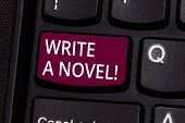 Word Writing Text Write A Novel. Business Concept For Be Creative Writing Some Literature Fiction Be poster