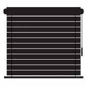Blinds Icon On White Background. Flat Style. Window Blinds Icon For Your Web Site Design, Logo, App, poster