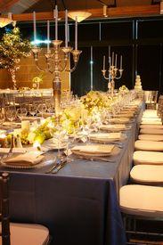 stock photo of wedding table decor  - Table setting at a luxury wedding reception - JPG
