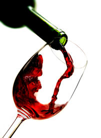 pic of wine-glass  - Photo of Red wine pouring into wine glass - JPG