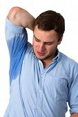 Man Sweating Very Badly Under Armpit