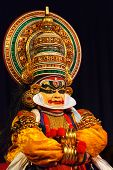 CHENNAI, INDIA - SEPTEMBER 8: Indian traditional dance drama Kathakali preformance on September 8, 2
