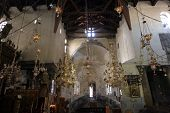 BETHLEHEM - OCTOBER 05: The Basilica of the Nativity is one of Bethlehem's major tourist attractions