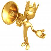 Постер, плакат: Король с мегафоном
